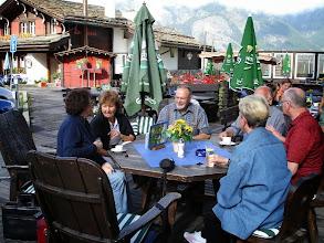 Photo: Im Gartenrestaurant beim Hotel Walliserhof