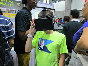 Photo: Kids Enjoying Roller Coaster Virtual Reality Simulation using Oculus Rift