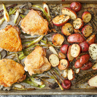 Sheet Pan Chicken with Red Potatoes and Sage Recipe