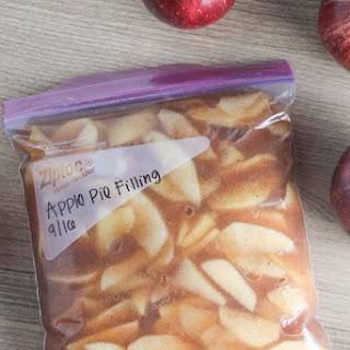 Freezer Friendly Apple Pie Filling.