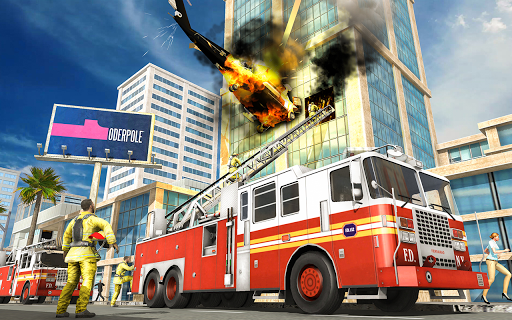 City Fire Fighter Airplane 911 Rescue Heroes  screenshots 3