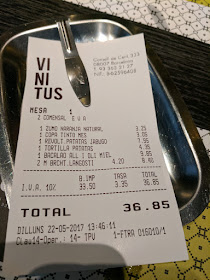 lunch receipt