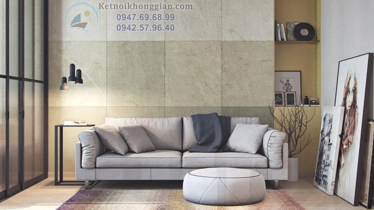 thiết kế căn hộ 45m2 - thiết kế phòng khách căn hộ nhỏ