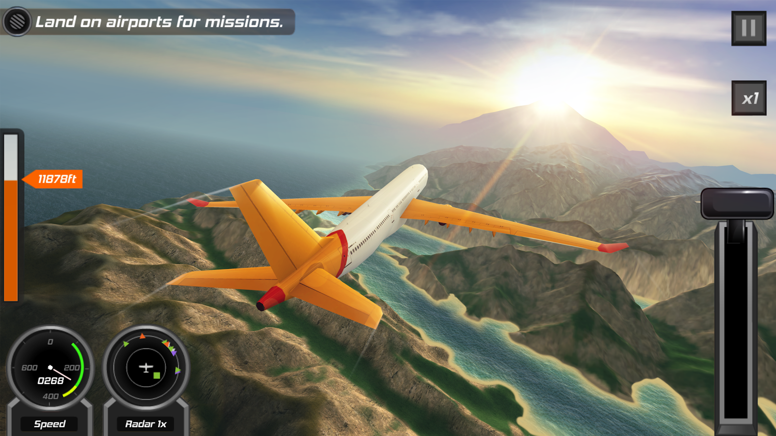Flight pilot simulator 3d free android apps on google play for Simulatore 3d