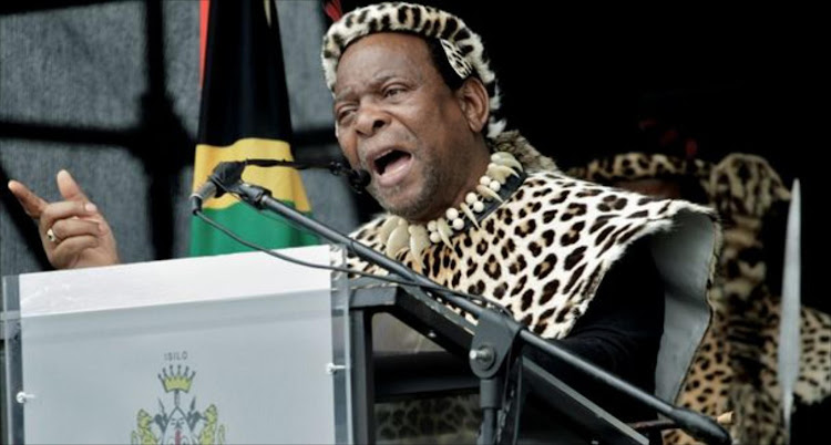 Zulu king' Goodwill Zwelithini.