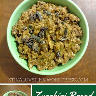 Zucchini Bread Steel Cut Oatmeal