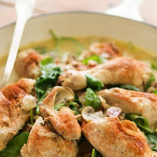 Pan-fried Chicken With Mustard Cream Sauce