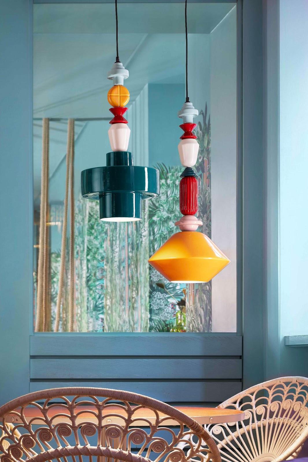 lampade a soffitto per ingresso contemporaneo