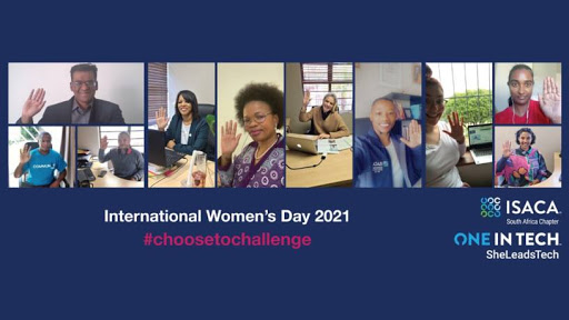 The ISACA South Africa Chapter team on International Women's Day 2021.