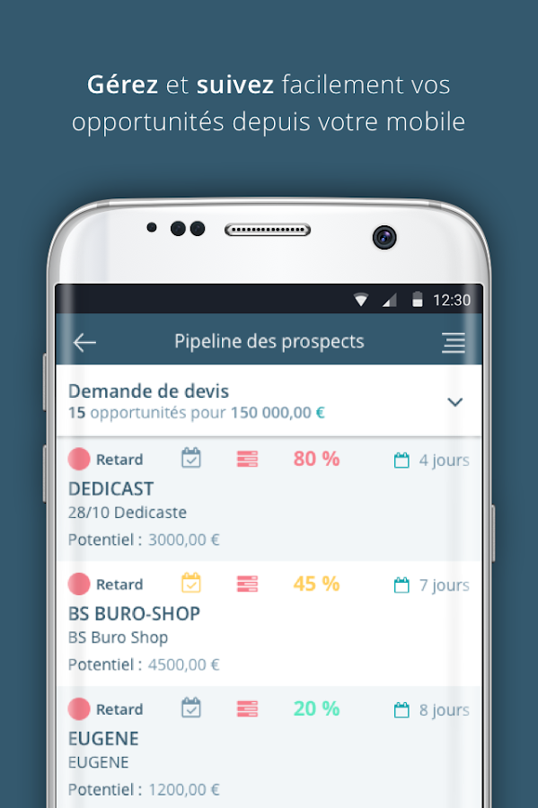 Sellsy Mobile – Capture d'écran