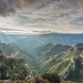 Copper Canyon by Ruben Parra - Landscapes Mountains & Hills ( mountains, barrancas de cobre, green, mexico, copper canyon, canyon, sunrise, chihuahua, landscape, divisadero )