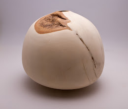 "Photo: Eliot Feldman 9"" x 8"" hollow form [bleached holly]"
