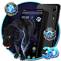 Jaguar Black 3D Theme 🐆 icon