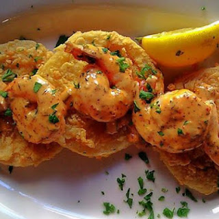 Fried Green Tomatoes and Shrimp with Spicy Remoulade.