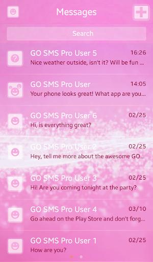 GO SMS Proのピンクスパークル