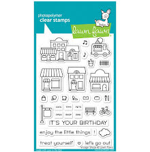 Lawn Fawn Clear Stamps 4X6 - Village Shops