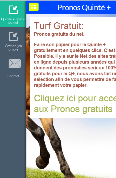 Turf Gratuit, Pronos Quinté +- screenshot