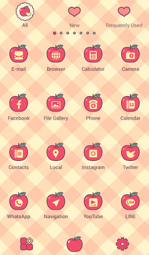 Apples & Gingham Check Theme screenshot