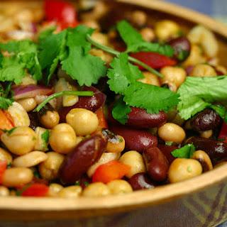 Bean Salad With Smoked Paprika Dressing.