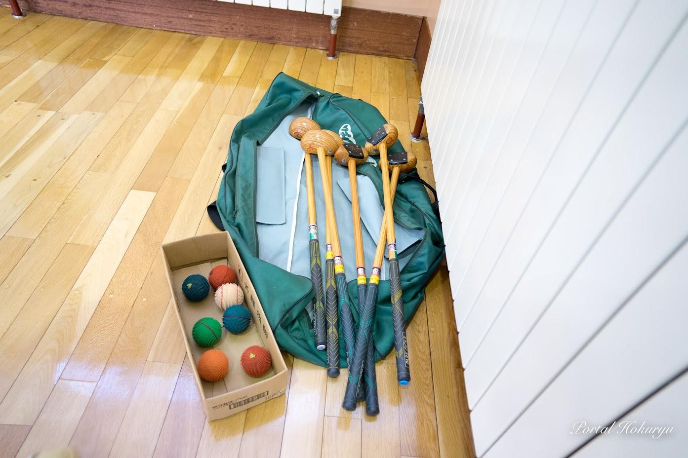 クラブとボール(教育委員会所蔵)