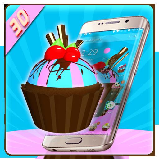 Cute CupCake 3D Theme
