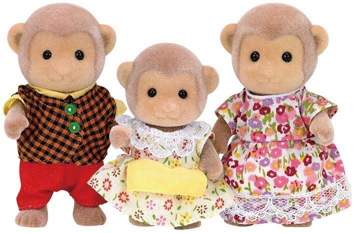 Contenido real de Sylvanian Families 5214 Familia de Monos