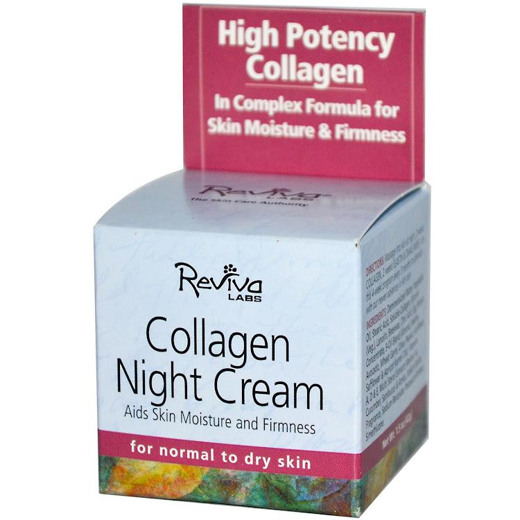 Reviva Labs, Collagen Night Cream, 1.5 oz (42 g) by Supermodels Secrets
