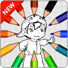Coloring page of Boboy icon
