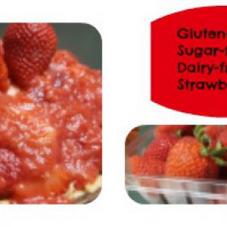 Gluten-free, Sugar-free, Dairy-free Strawberry Pie.