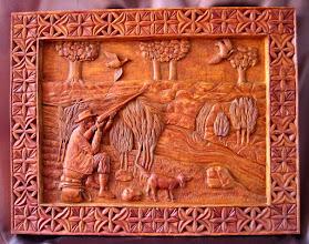 Photo: Tamaño: 78 x 100 cm. || Talla en madera. Woodcarving.   Puedes conocer más de este artista en el blog: http://tallaenmadera-woodcarving-esculturas.blogspot.com/