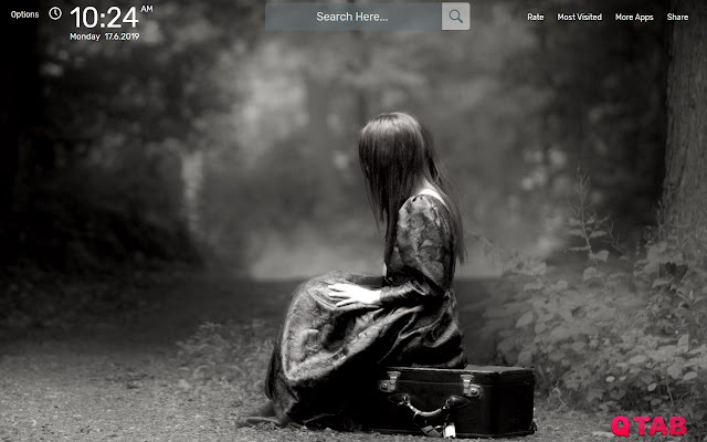 SAD Wallpapers New Tab Theme - Chrome