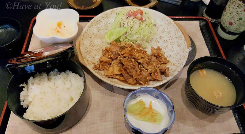 shogayaki teishoku