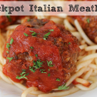 Crockpot Italian Meatballs   Perfect For Dinner or Game Day!.