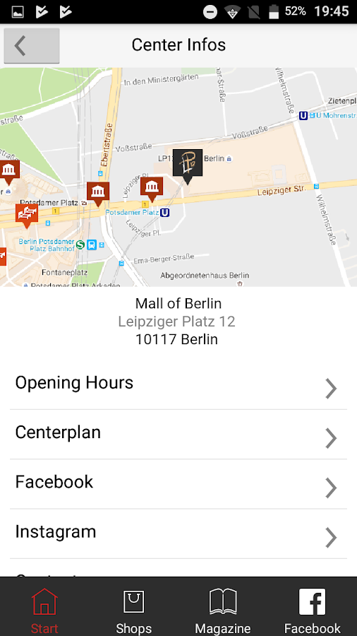 LP Mall Of Berlin Android Apps On Google Play - Mall of berlin map
