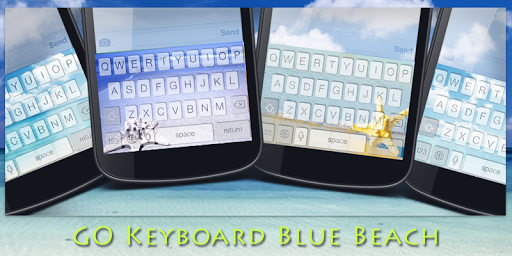 GO Keyboard Blue Beach