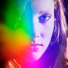 I see your true color and that's why I love you... by Lana Nolte - People Portraits of Women ( girl, colorful, beautiful, flare )