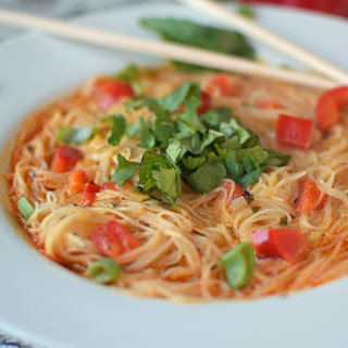 Thai Curry Noodle Bowl - Vegan and Gluten Free