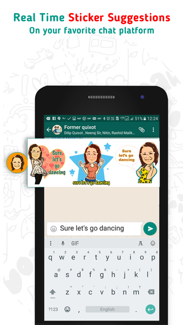 Bobble Keyboard - GIF Stickers- screenshot