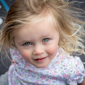 by Becca McKinnon - Babies & Children Children Candids ( static, trampoline, fun, hair, eyes,  )