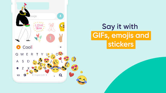 Fleksy: The Private Keyboard -GIF, Emoji & Sticker Screenshot