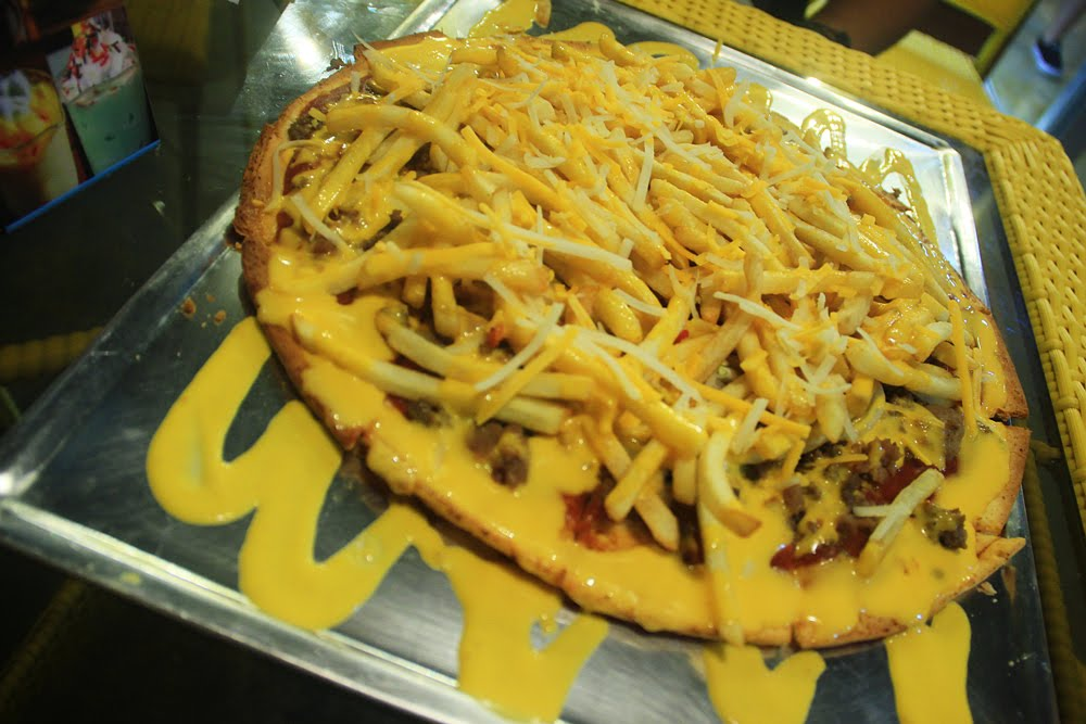 Burger and Fries Pizza