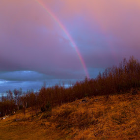 May in Bjørnevatn by Ricky Friskilæ - Landscapes Cloud Formations ( northern, beautiful, spring, rainbow, norway )