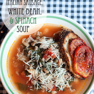 Italian Sausage, White Bean, and Spinach Soup