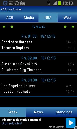 ACB Liga Endesa Scores 3.9.2 screenshots 1
