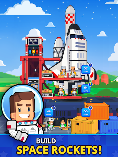 Rocket Star - Idle Space Factory Tycoon Game android2mod screenshots 9