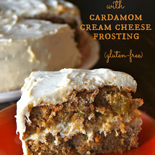 Spiced Carrot Cake with Cardamom Cream Cheese Frosting {Gluten-Free Recipe}.