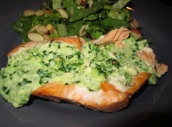 Salmon With Feta, Ricotta And Spinach Stuffing Recipe