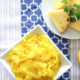 Pineapple Turmeric Sauerkraut And Gut Shots