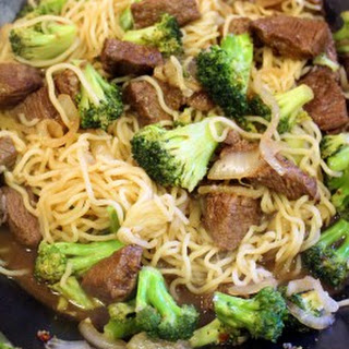 Beef Broccoli Noodle Stir Fry.