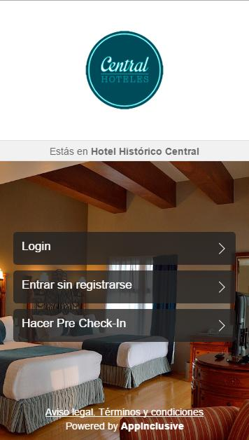 Central Hoteles App- screenshot